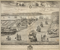 A Prospect of the town and Harbour of Harwich
